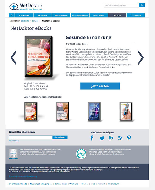 eBooks Landingpage - Konzept u. Design